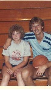 1982 Basket Ball Camp picture with Danny Ainge